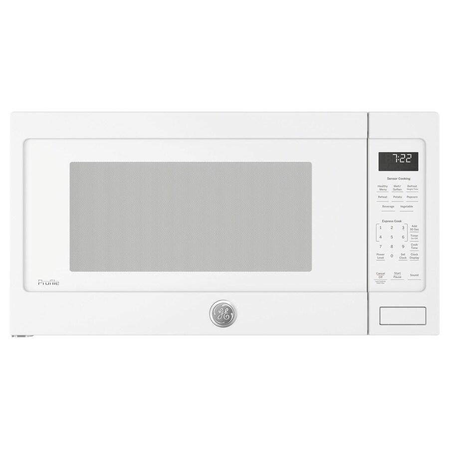 GE Profile 2.2-cu ft 1100-Watt Countertop Microwave (White)