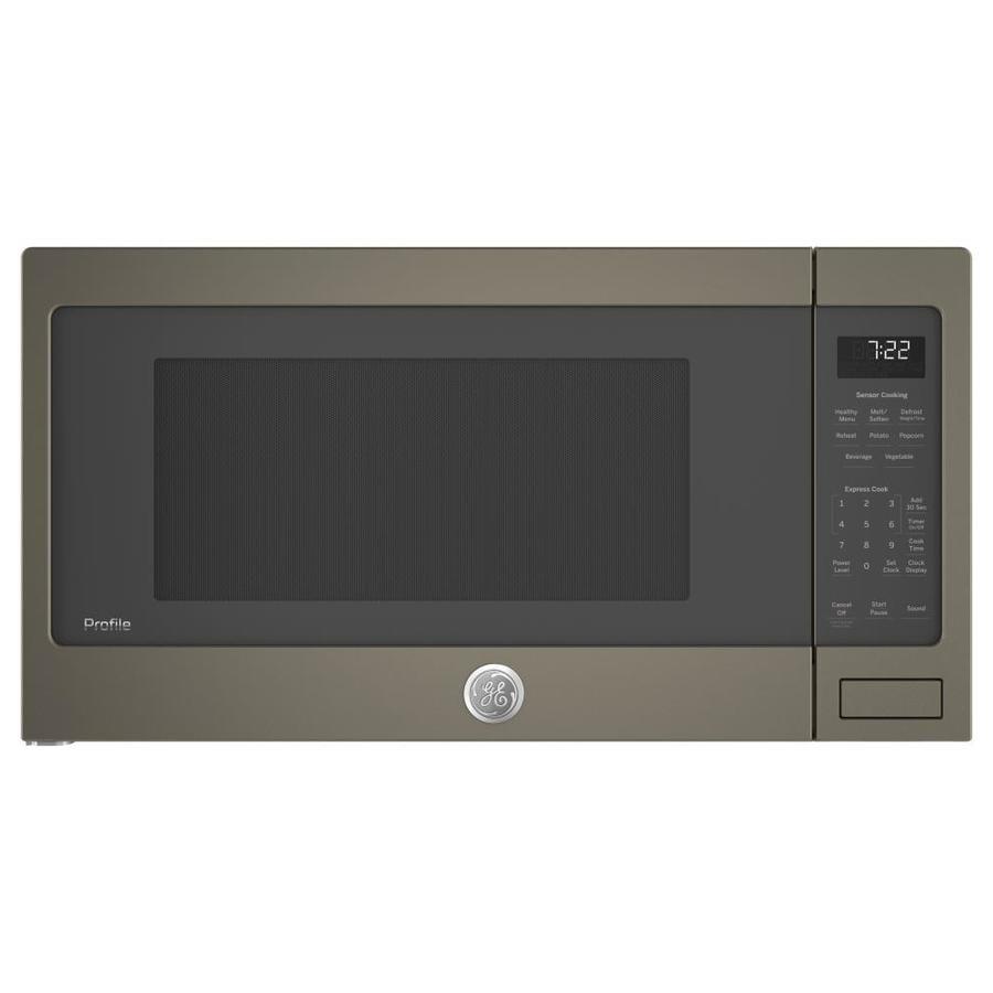 Ge Profile 2 2 Cu Ft 1100 Watt Countertop Microwave Slate