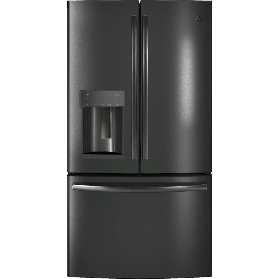 Shop Ge 27 8 Cu Ft French Door Refrigerator With Ice Maker