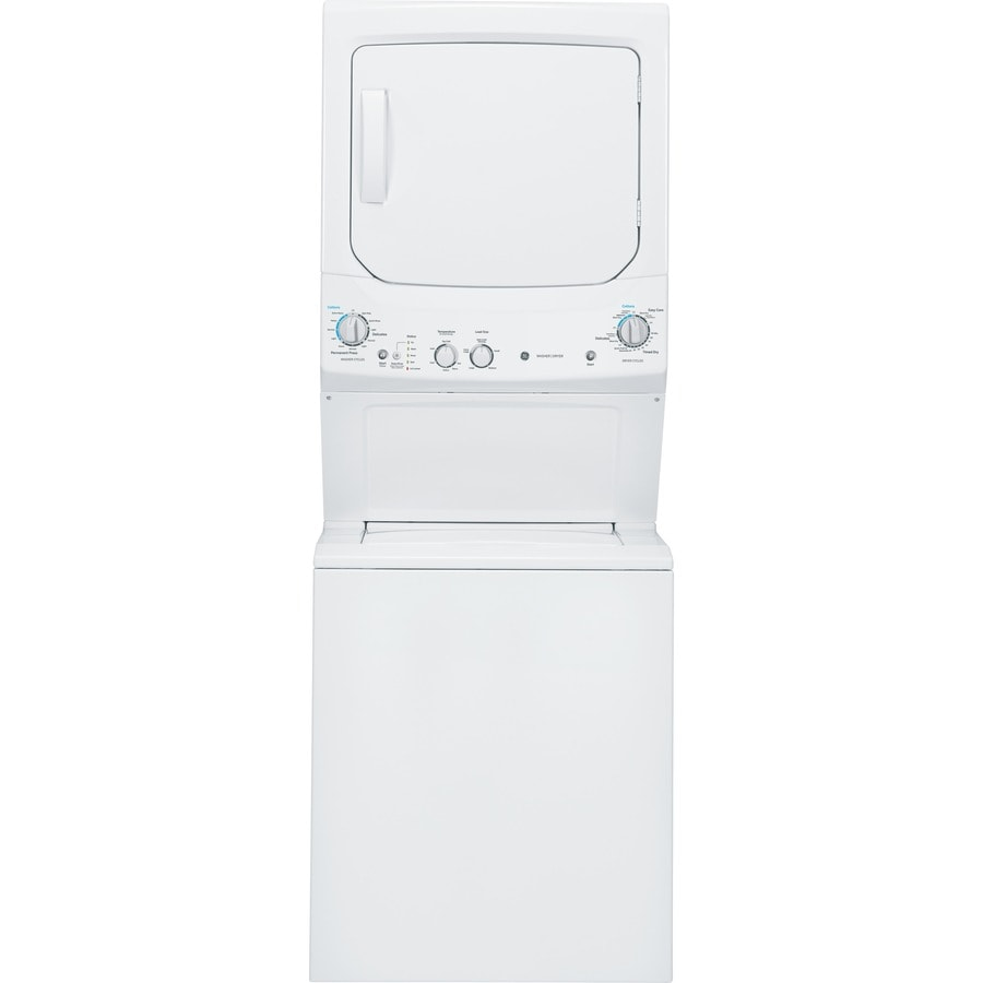 Ge Stacked Laundry Center With 3 8 Cu Ft Washer And 5 9 Cu