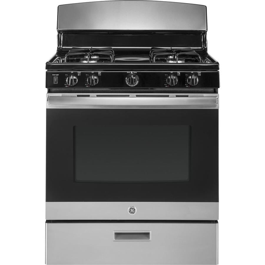 GE Freestanding 4.8 Convection Gas Range (Stainless Steel) (Common: 30 -in; Actual: 30-in)