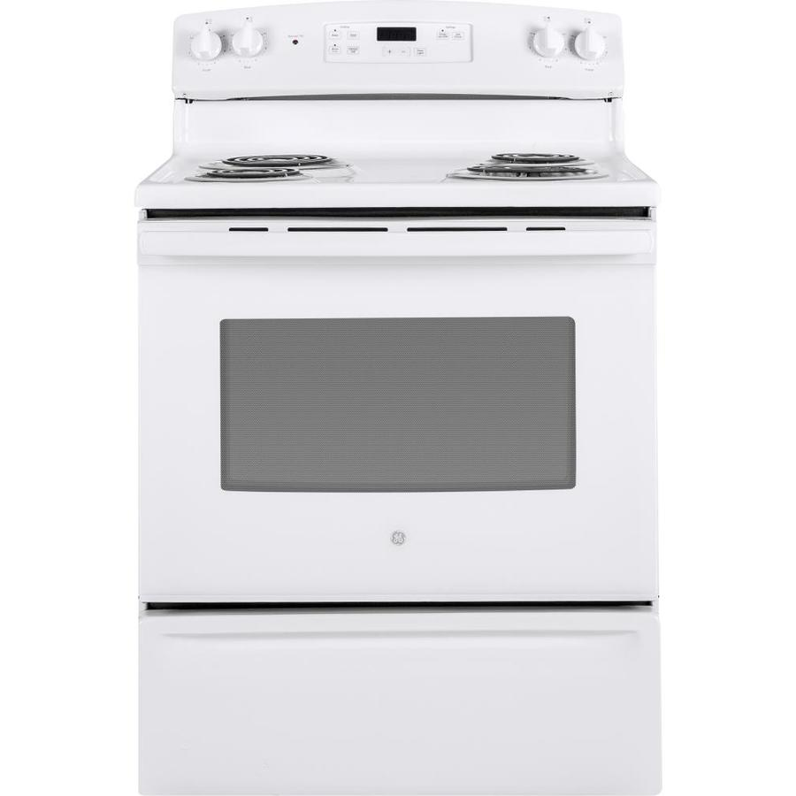 GE Freestanding 5-cu ft  Electric Range (White) (Common: 30 Inch; Actual: 30-in)