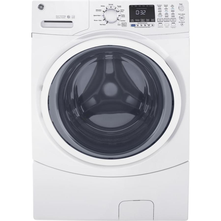 Ge 4 5 Cu Ft Stackable Front Load Washer White Energy Star