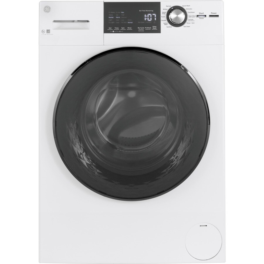 GE 2 4-cu ft High Efficiency Stackable Front-Load Washer (White
