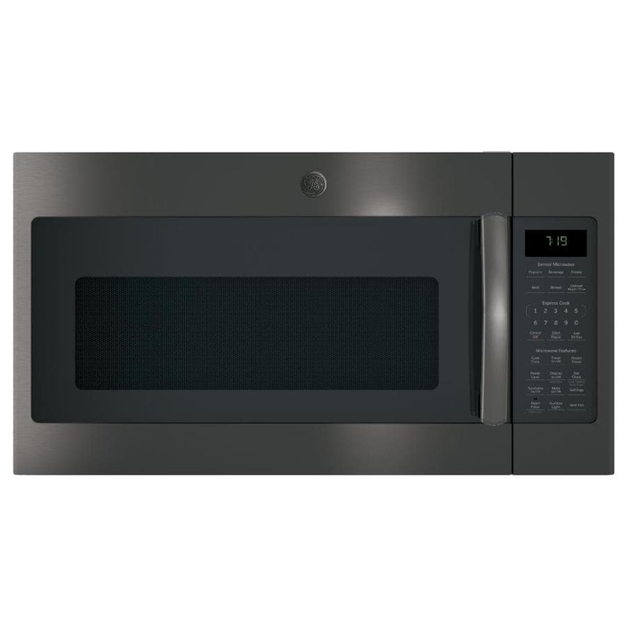 GE 1.9-cu ft Over-the-Range Microwave with Sensor Cooking Controls and Speed Cook (Black Stainless) (Common: 30-in; Actual: 29.75-in)