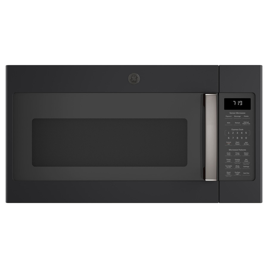 GE 1.9-cu ft Over-the-Range Microwave with Sensor Cooking Controls (Black Slate) (Common: 30 -in; Actual: 29.75-in)