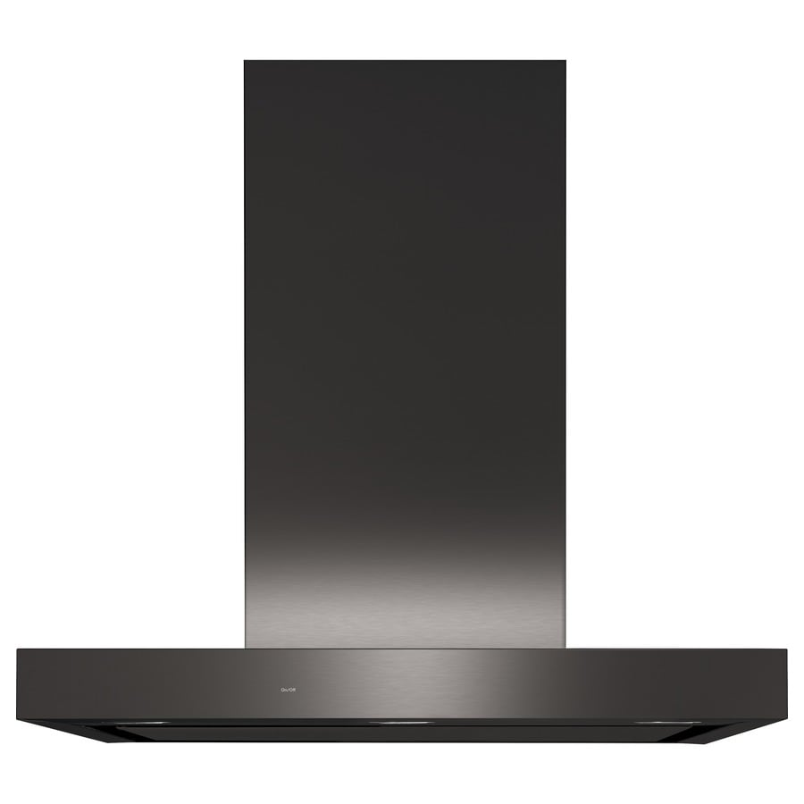 Ge Convertible Wall Mounted Range Hood Black Stainless Common 30 Inch
