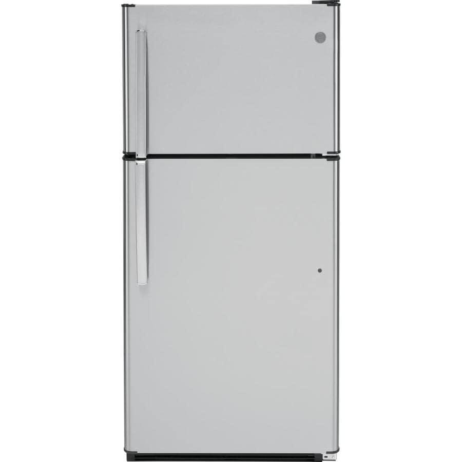 GE 18.2-cu ft Top-Freezer Refrigerator (Stainless Steel)