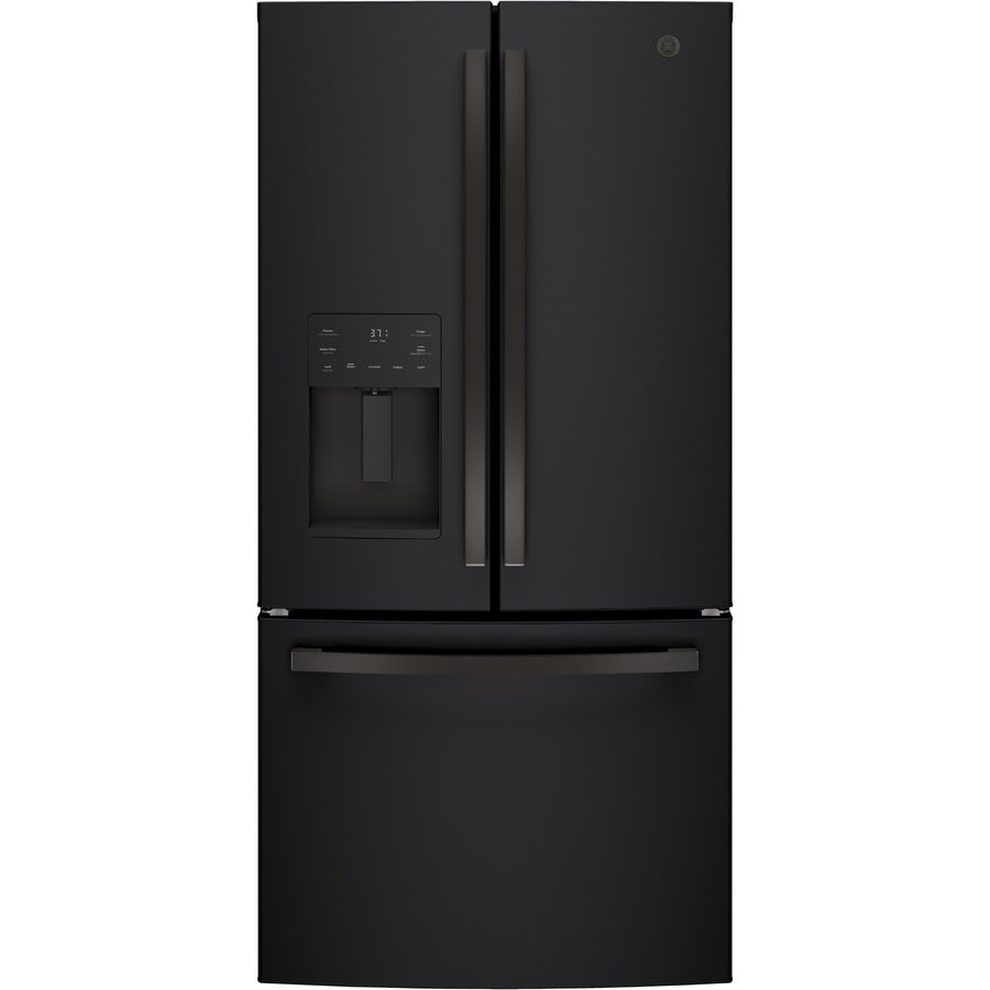 GE 17.5 Cu Ft Counter Depth French Door Refrigerator With Ice Maker  (Fingerprint