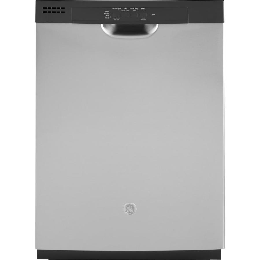 Shop Ge 24 In Black Dishwasher With Piranha Hard Food: GE 59-Decibel And Hard Food Disposer Built-In Dishwasher