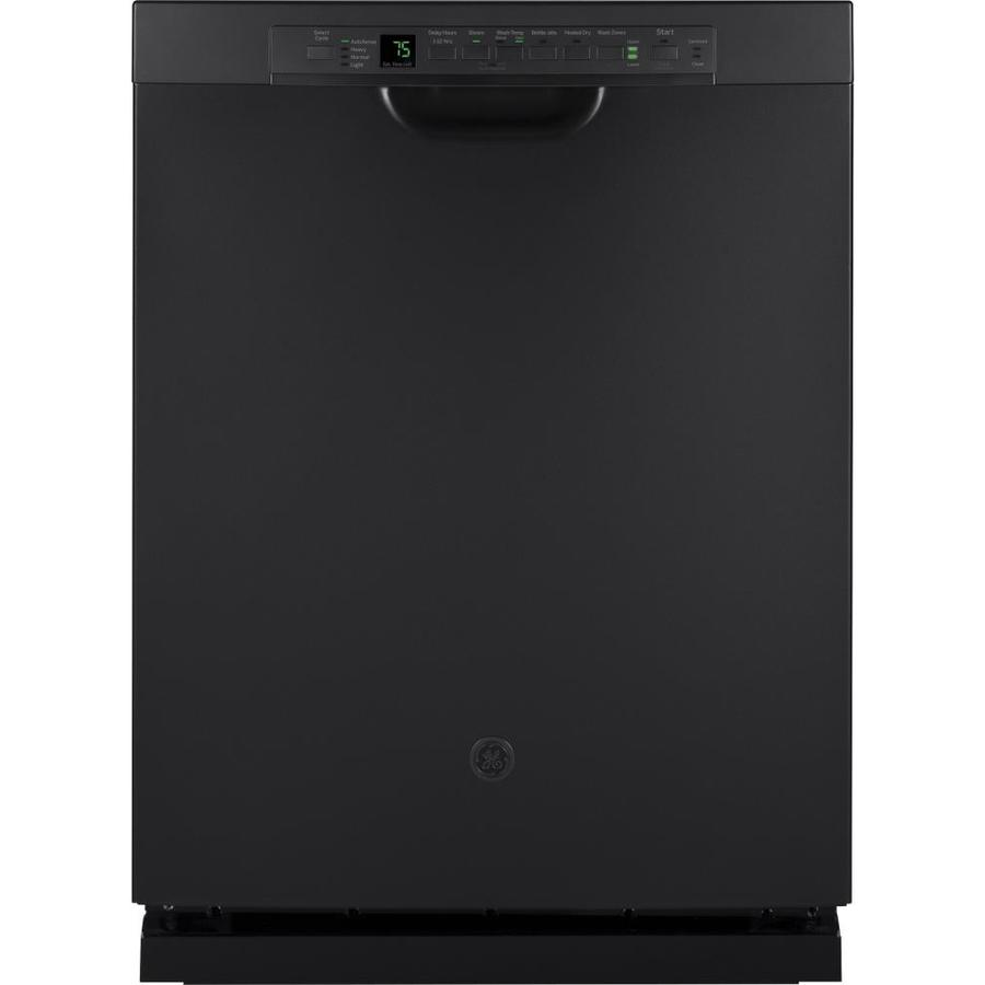 Shop Ge 24 In Black Dishwasher With Piranha Hard Food: GE 46-Decibel And Hard Food Disposer Built-In Dishwasher