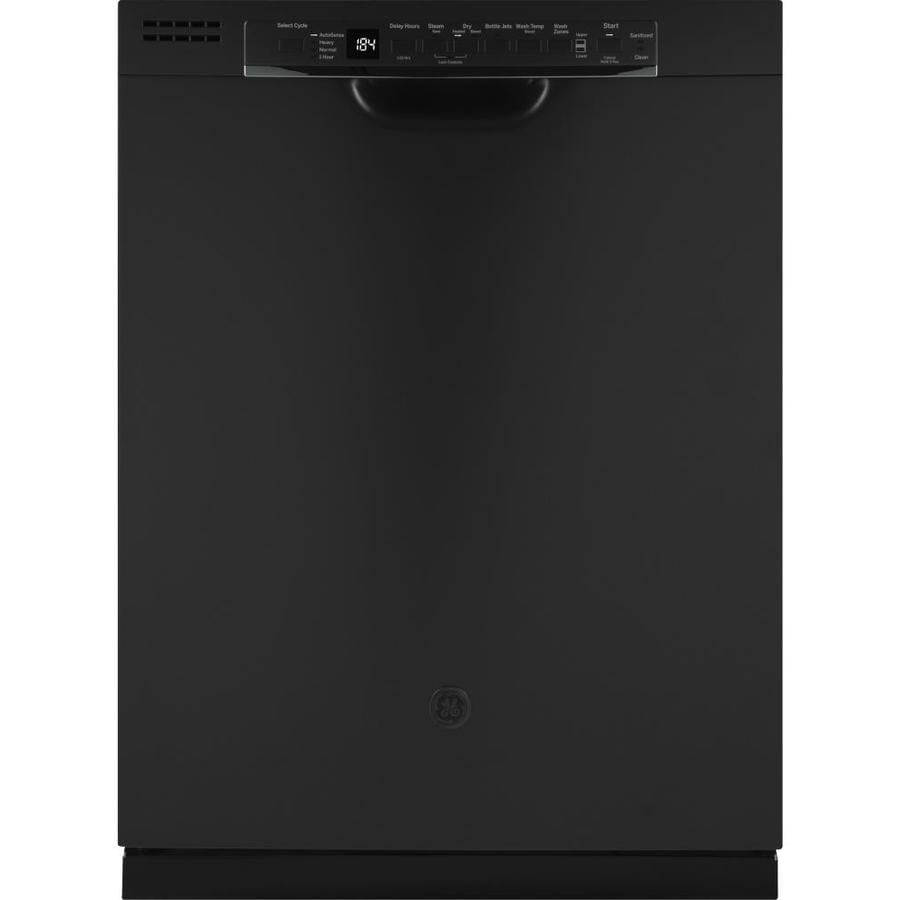Shop Ge 24 In Black Dishwasher With Piranha Hard Food: GE 50-Decibel And Hard Food Disposer Built-In Dishwasher