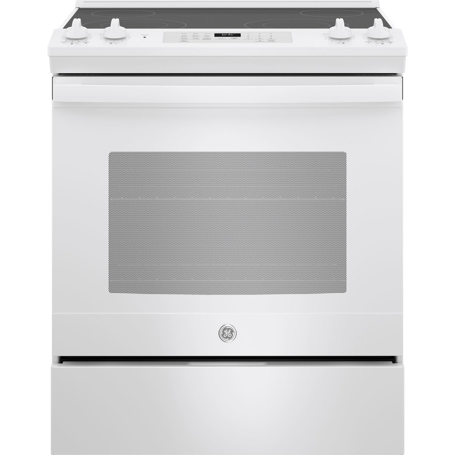 GE Smooth Surface Self-cleaning Slide-In Electric Range ...