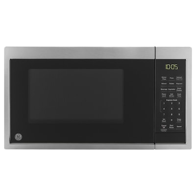 0 9 Cu Ft 900 Watt Countertop Microwave Stainless Steel