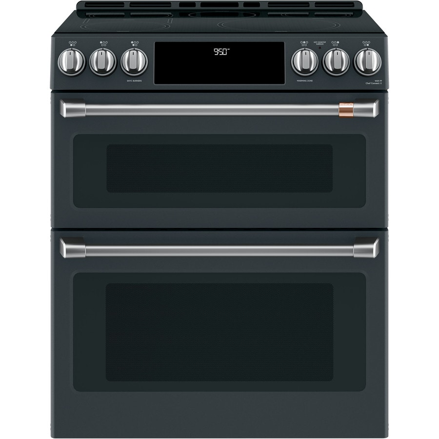 Cafe 30 In Side Front Control Induction And Convection Double Oven Range