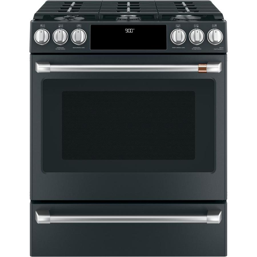 Cafe Deep Recessed 6-Burner Self-Cleaning and True ...