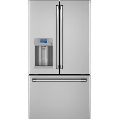 Hot Water Dispenser 27 8 Cu Ft 3 Door Standard Depth French Refrigerators Single Ice Maker Stainless Steel Energy Star
