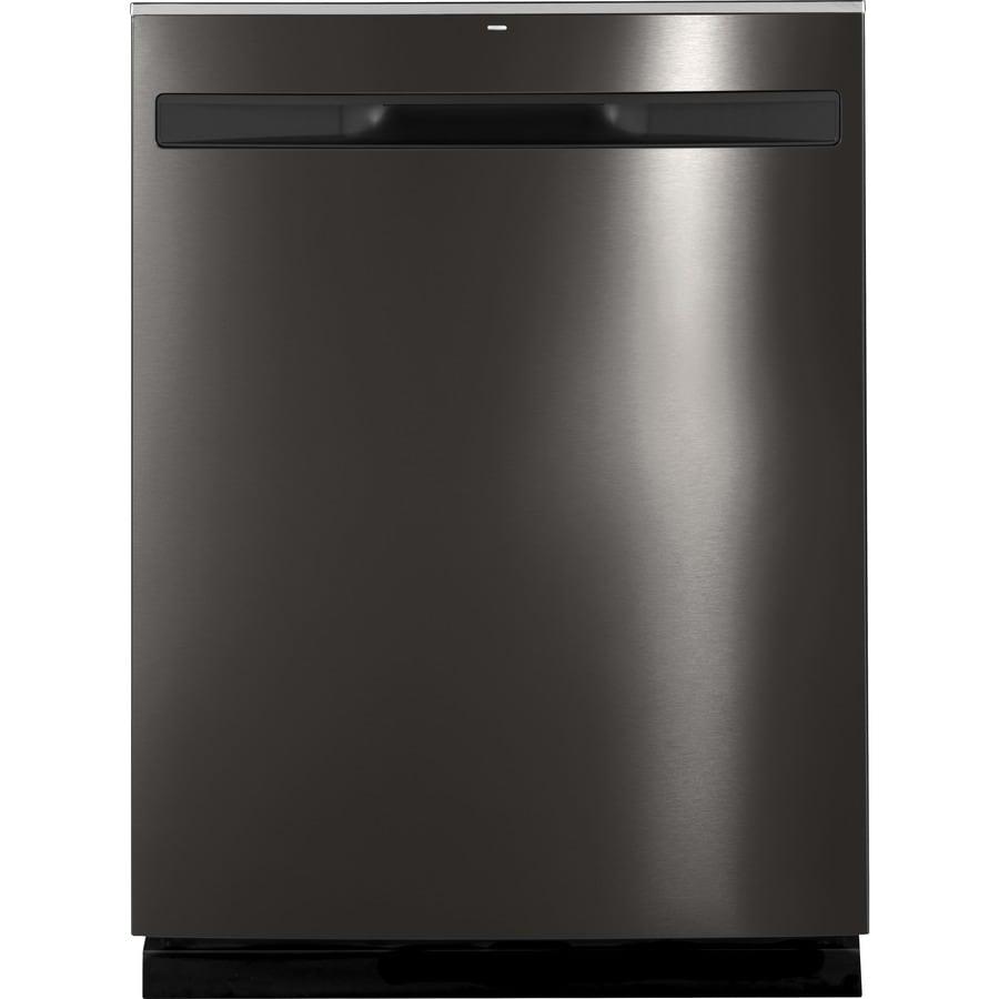 Shop Ge 24 In Black Dishwasher With Piranha Hard Food: GE 45-Decibel Hard Food Disposer Built-in Dishwasher