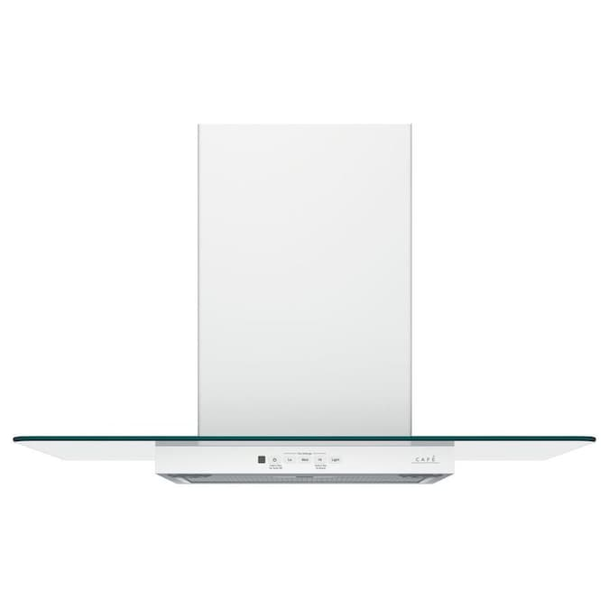Cafe 30 In Convertible Matte White Wall Mounted Range Hood In The Wall Mounted Range Hoods Department At Lowes Com