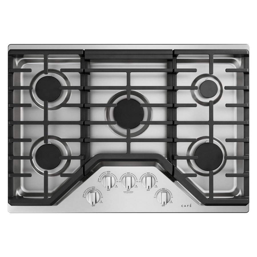 Cafe 30 In 5 Burner Stainless Steel Gas Cooktop Common Inch Actual