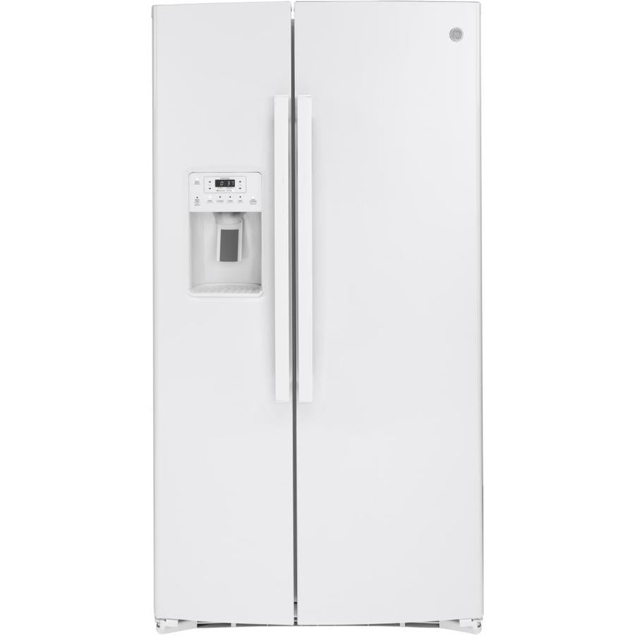 Ge 25 1 Cu Ft Side By Side Refrigerator With Ice Maker
