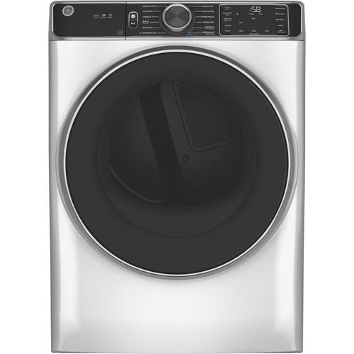 GE 7.8-cu ft Stackable Steam Cycle Electric Dryer (White ...
