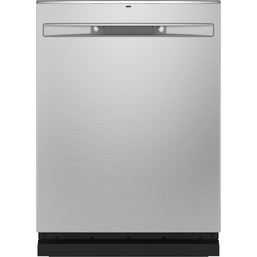 Ge Dry Boost 46 Decibel Top Control 24 In Built In Dishwasher Fingerprint Resistant Stainless Steel Energy Star In The Built In Dishwashers Department At Lowes Com