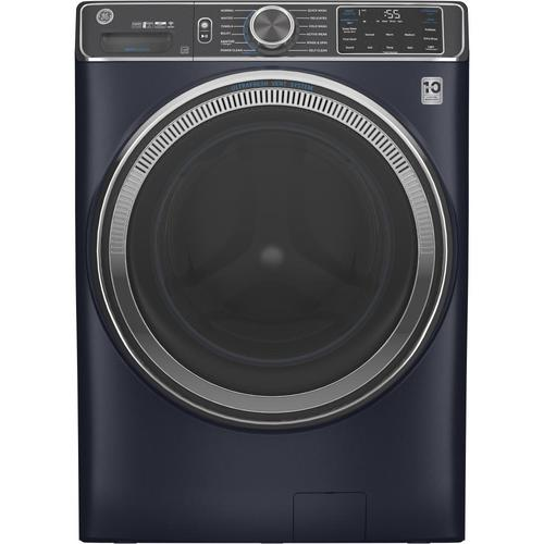 GE UltraFresh Vent System 5-cu ft Stackable Front-Load Washer (Sapphire Blue) ENERGY STAR at Lowes.com