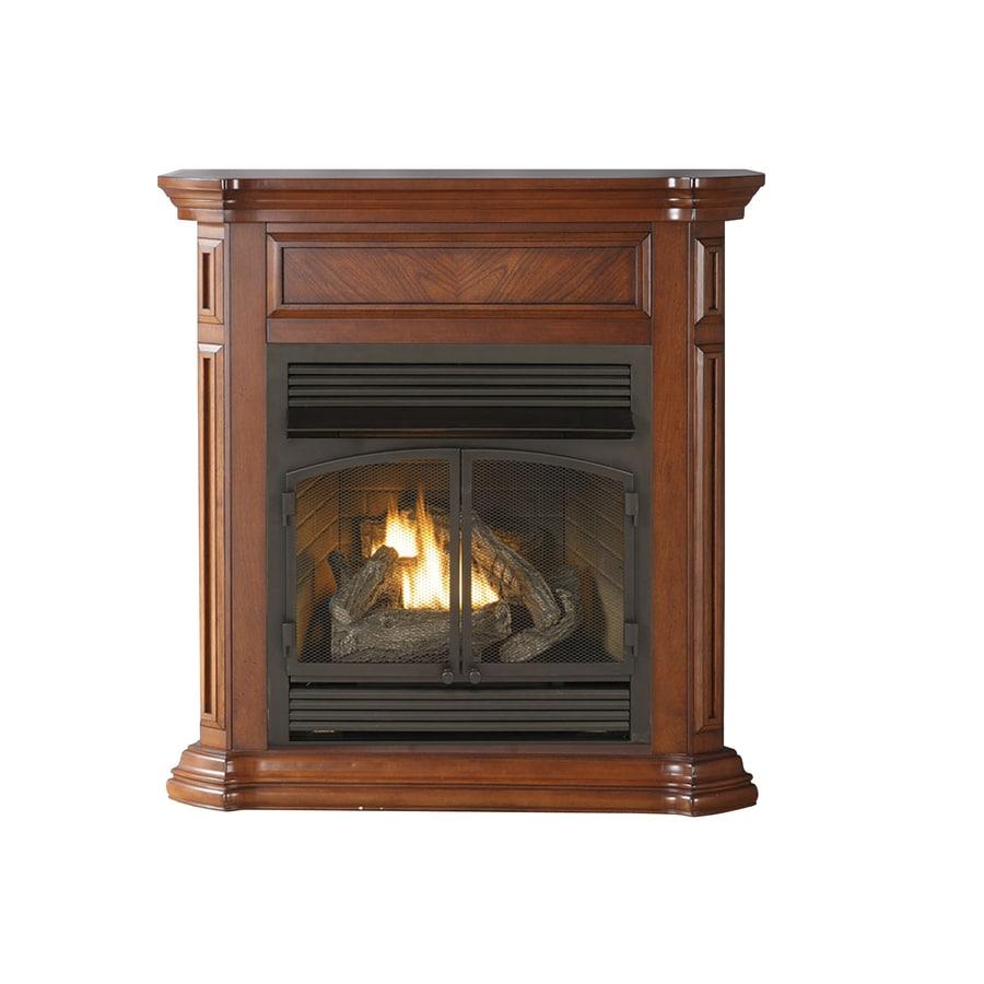 shop cedar ridge hearth 43 75 in dual burner vent free apple spice
