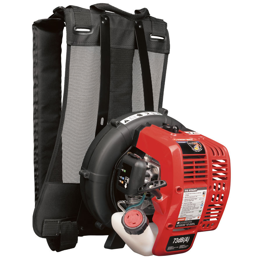 Troy-Bilt 27cc 2-Cycle 145-MPH 445-CFM Medium-Duty Gas Backpack Leaf Blower