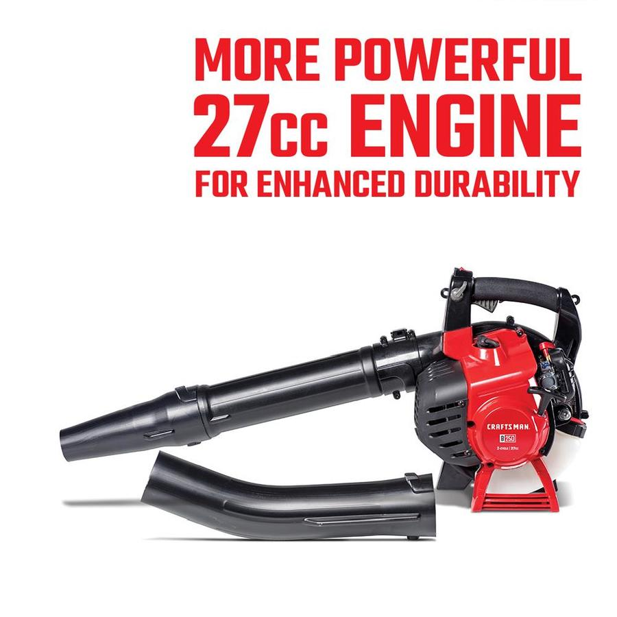 CRAFTSMAN 27-cc 2-cycle 205-MPH 450-CFM Medium-duty Handheld Gas Leaf Blower