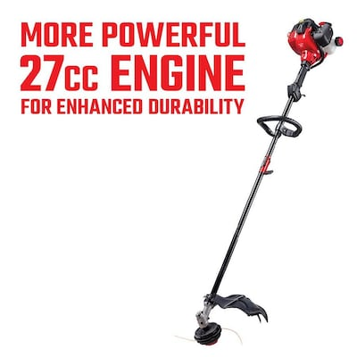 Ws230 27 Cc 2 Cycle 17 In Straight Shaft Gas String Trimmer With Attachment And Edger Capability