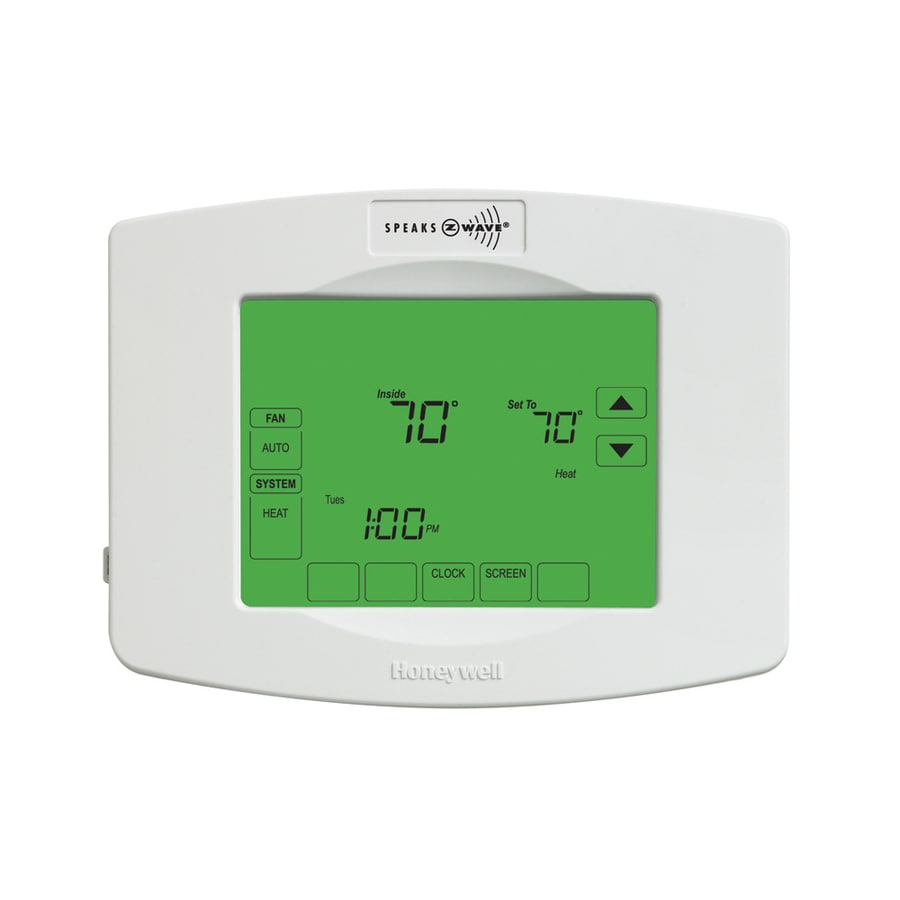 Honeywell Z-Wave Large Screen 7-Day Touch Screen Programmable Thermostat Works with Iris