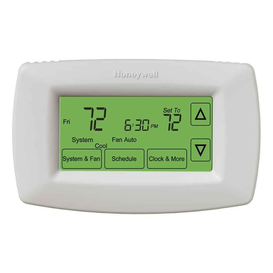 Honeywell 7 Day Touch Screen Programmable Thermostat At