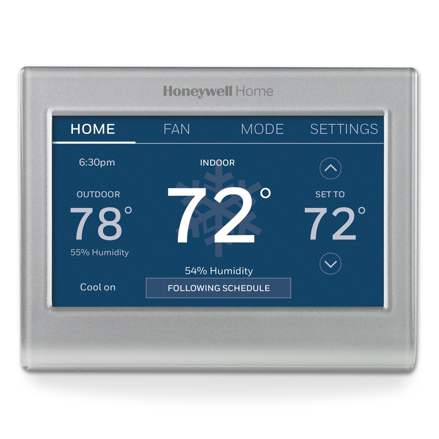 shop honeywell silver wi fi smart color thermostat with built in wifi at. Black Bedroom Furniture Sets. Home Design Ideas