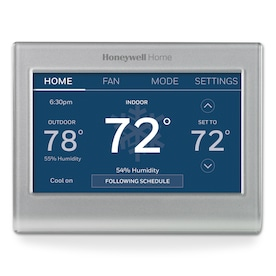 Honeywell Wi-Fi Smart Color Silver Thermostat with Wi-Fi Compatibility