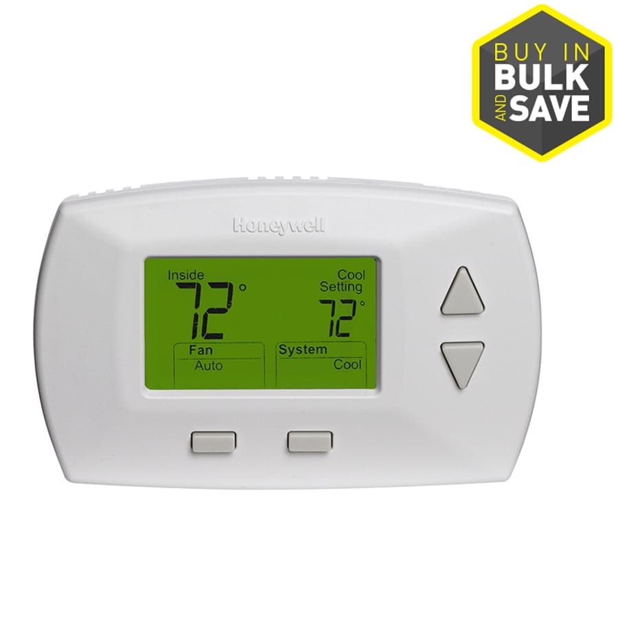 Honeywell Deluxe Digital Non Programmable Thermostat At Heating Cooling Wiring Diagram
