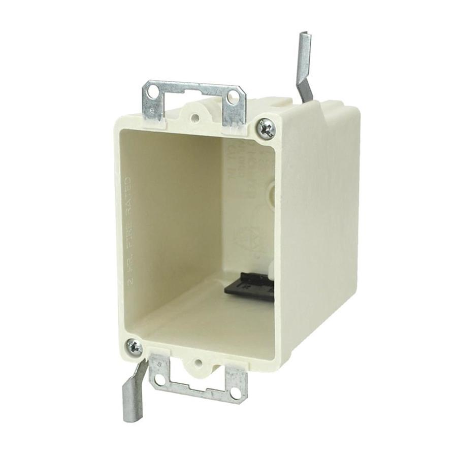 Allied Moulded Products 1-Gang Off-white Fiberglass Interior Old work Standard Switch/Outlet Interior Electrical Box