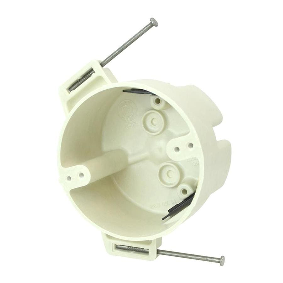Allied Moulded Products Off-White Fiberglass Interior New Work Standard Round Electrical Box
