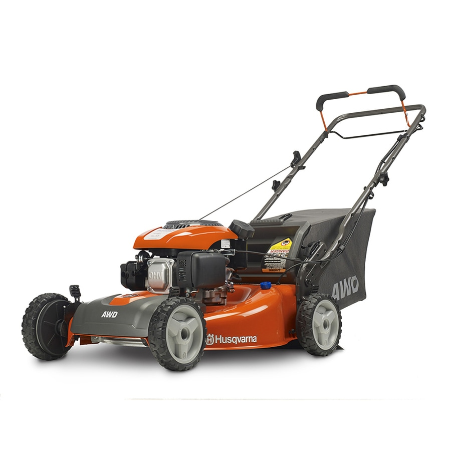 Husqvarna HU675AWD 149cc 22-in Self-Propelled All-Wheel Drive Residential Gas Lawn Mower with Mulching Capability