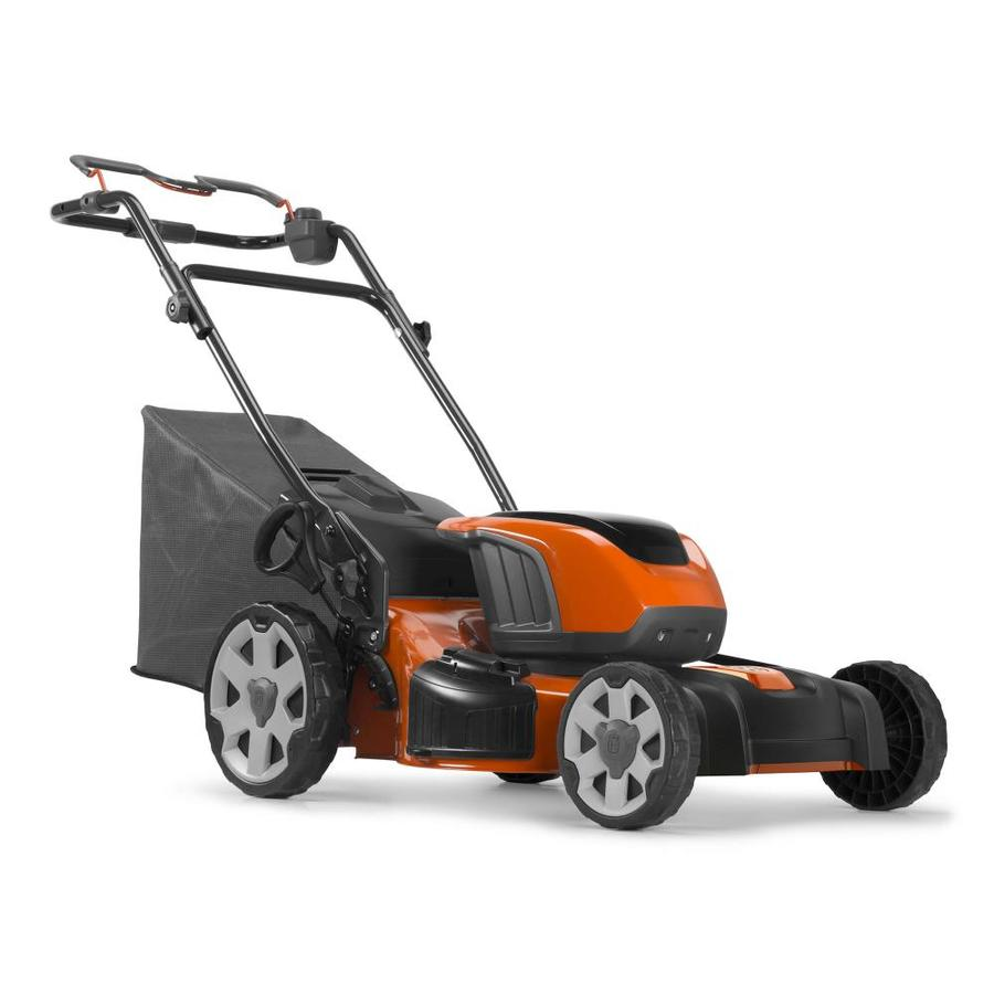 husqvarna le 121p 40-volt brushless lithium ion 21-in cordless electric  lawn mower (batteries included)