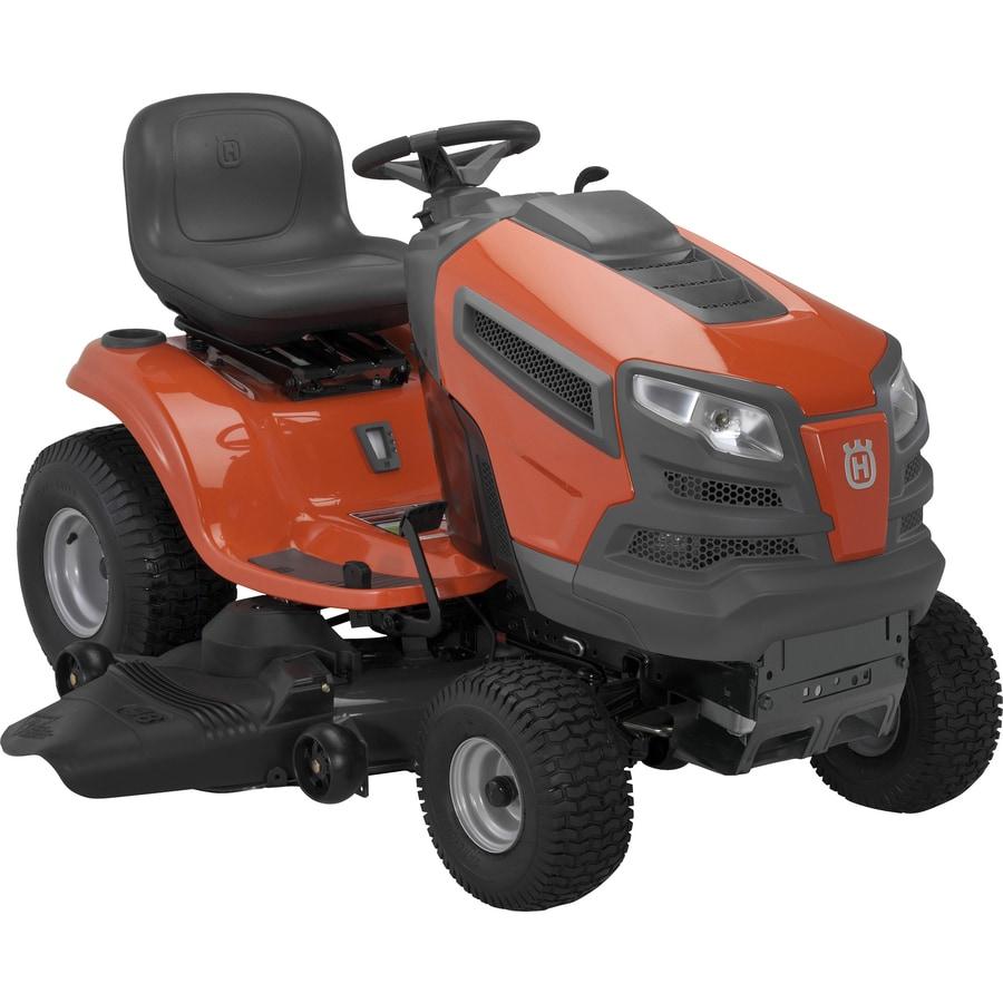 Husqvarna 23-HP V-Twin Hydrostatic 48-in Riding Lawn Mower with Briggs & Stratton Engine
