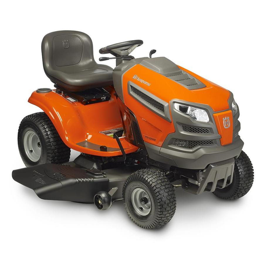 Husqvarna YTH22V46 22-HP V-Twin Hydrostatic 46-in Riding Lawn Mower with Mulching Capability