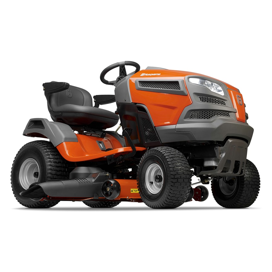 Husqvarna YTH24V48 24-HP V-Twin Hydrostatic 48-in Riding Lawn Mower with Mulching Capability