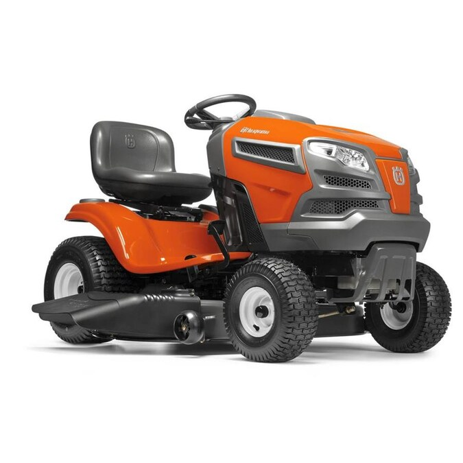 Husqvarna Yta18542 18 5 Hp Automatic 42 In Riding Lawn Mower With Mulching Capability Kit Sold Separately In The Gas Riding Lawn Mowers Department At Lowes Com