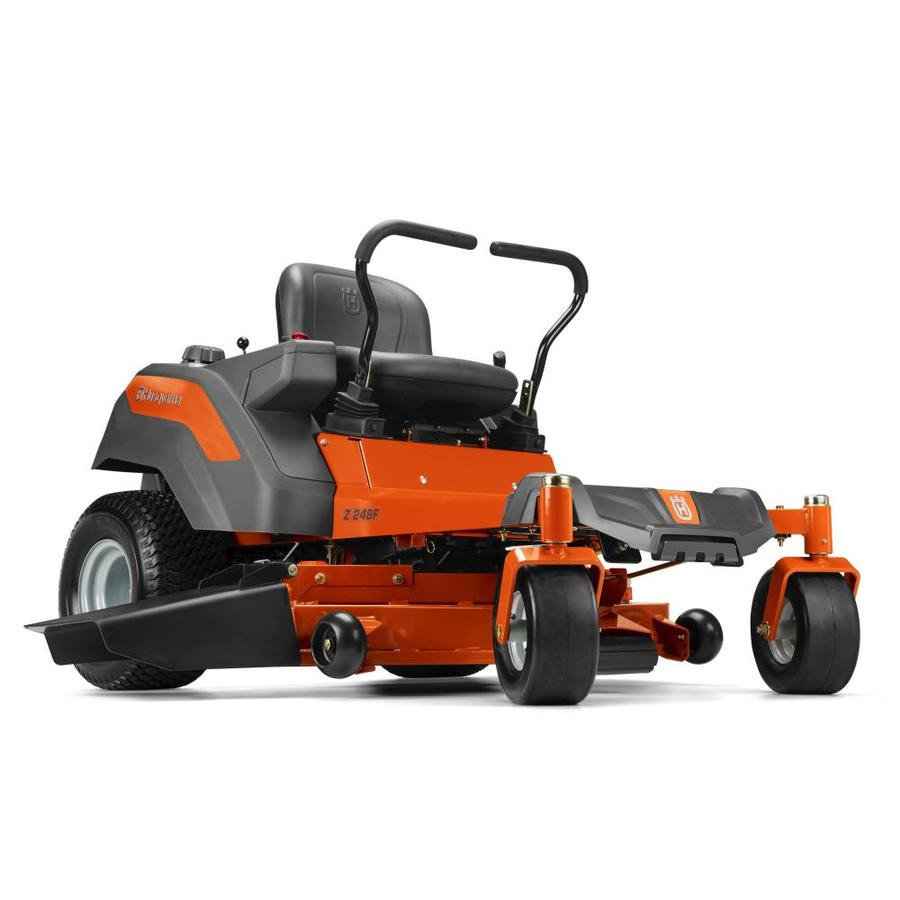husqvarna mz series 23-hp v-twin hydrostatic 48-in zero-turn lawn mower  with mulching capability (kit sold separately) carb