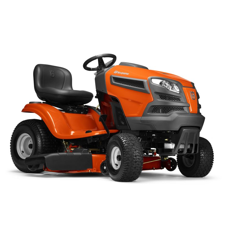 Husqvarna Yth18542 18 5 Hp Hydrostatic 42 In Riding Lawn Mower With Mulching Capability Kit Sold Separately In The Gas Riding Lawn Mowers Department At Lowes Com