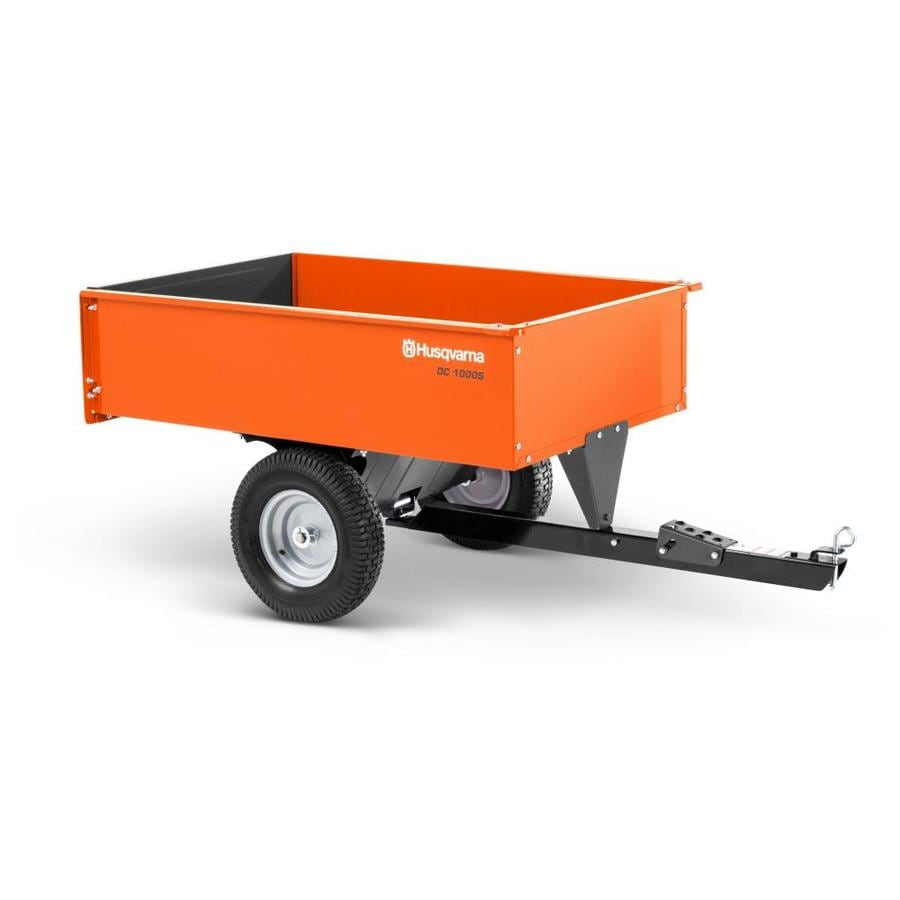 Husqvarna 12 Cu  Ft  Steel Swivel Dump Cart at Lowes com