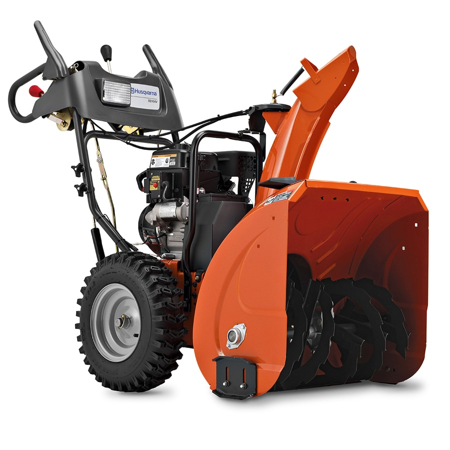 Husqvarna 208-cc 24-in Two-Stage Electric Start Gas Snow Blower with Headlight