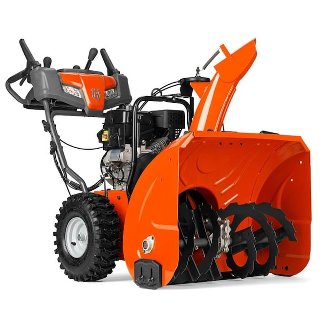 Husqvarna ST 227P 27-in 254-cc Two-Stage Self-Propelled Gas Snow Blower with Push-Button Electric Start; Power Steering; Headlight(s); Heated Handles